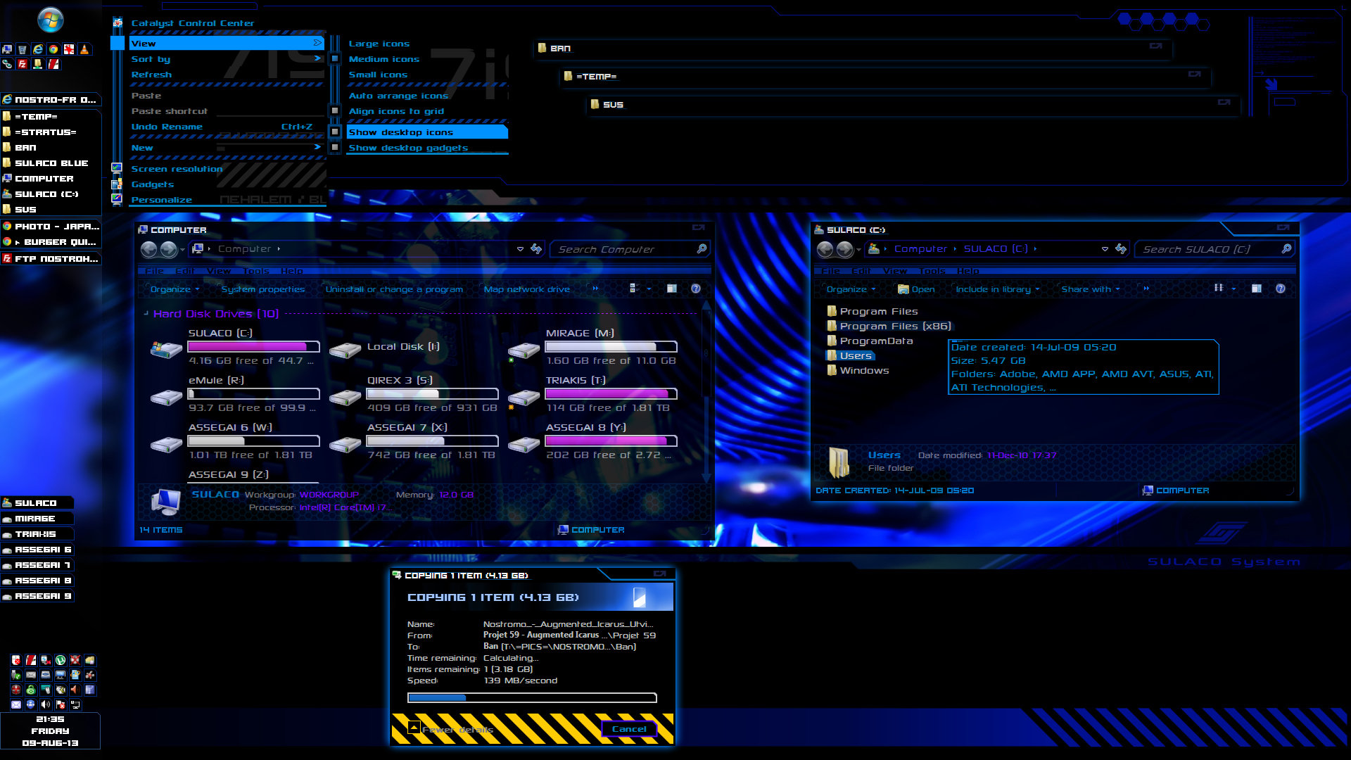 Sulaco SVS-theme-desktop-blue (preview)